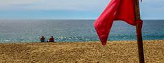 Red Flag - No Swimming (KVSE) Tags: beach cabosanlucas loscabos pacific pacificocean baja bajacaliforniasur red redflag sun sand surf sunsandsurf