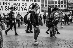 And I Thought My Outfit Would Stand Out, I'm Depressed Now (burnt dirt) Tags: asian japan tokyo shibuya station streetphotography documentary candid portrait fujifilm xt1 bw blackandwhite laugh smile cute sexy latina young girl woman japanese korean thai dress skirt shorts jeans jacket leather pants boots heels stilettos bra stockings tights yogapants leggings couple lovers friends longhair shorthair ponytail cellphone glasses sunglasses blonde brunette redhead tattoo model train bus busstation metro city town downtown sidewalk pretty beautiful selfie fashion pregnant sweater people person costume cosplay boobs