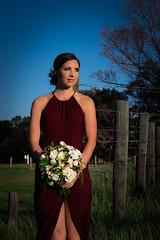 Tamara by the vineyard (Ranford Stealth) Tags: fujixt1 fuji56mmf12 beauty beautiful woman bridesmaids wedding bouquet flower