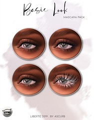 New group gift at liberté (Ascurb) Tags: liberté liberte basic look mascara pack gift gg group groupgift black brown blue white hud head color colors catwa applier appliers