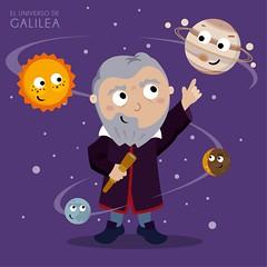 Galileo Galilei (Universo de Galilea) Tags: galileo galilei astronomer sunspot jupiter telescope astronomy kawaii