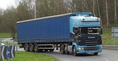 R G Bassett MX05 BLJ at Telford (Joshhowells27) Tags: lorry truck mx05blj scania r420 scaniar420 curtainsider rgbassett stokeontrent
