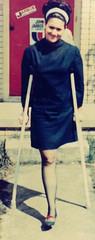 Roberta HD2 (jackcast2015) Tags: amputee amputeewoman amputeelady disabledwoman disabledladies crippledwoman crippled crippledlady crutches monopede hipdisarticulation