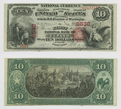 United States $10.00 (ten dollars) national currency (SMU Libraries Digital Collections) Tags: texas money national us united states currency paper banks notes note banknote banknotes chartered bank banking elpasocounty el paso elpaso