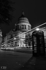 St Paul's.....(Crazy Tuesday! - Black and White) (CJD imagery) Tags: canonefs18135mmf3556isstm canoneos80d architecturephotography gradeilisted churchofengland anglicancathedral telephonebox city architecture longexposurephotography longexposure monochrome blackwhite blackandwhite crazytuesday london stpaul'scathedral england gb greatbritain uk unitedkingdom