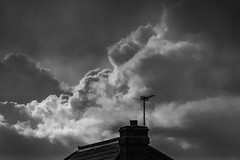 Cloud shapes (20190403_2) (Graham Dash) Tags: addlestone blackandwhite clouds monochrome rainclouds 2019pad