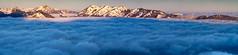 Mer de nuages (penelope64) Tags: pyrénées montagne mountain neige snow pic peaks sommet hautespyrénées france paysage landscape aube merdenuages panoramique panoramic olympusem1