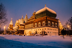 Moscow (ovlywxxe30) Tags: moscow russia twilight kolomenskoe park zar castle palace snow winter
