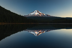 Mt. Hood Reflections (kephart_kyle) Tags: alpine explored glow lake mountains mthood nikon oregon snow sunrise trillium volcano