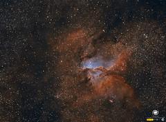 NGC 6193 y NGC 6188 (StarryEarth) Tags: ngc6193 nebulosa star cluster cumulo estelar galáctica via láctea milky way estrella norma ara constelación constellation