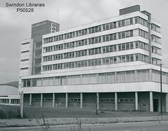 1960s: W.H. Smith & Son, Greenbridge, Swindon (Local Studies, Swindon Central Library) Tags: michaelpassmore swindon donation wiltshire photograph bw p50528 smiths whsmith whsmiths whsmithson frakesway greenbridge 1960s