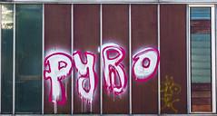 Pyro.... (+Pattycake+) Tags: 14feb19 glass lumixdmcgm1 derelict trowse norwich graffiti pyro norfolk outdoor