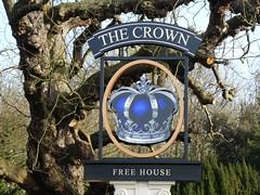 UK - Hertfordshire - Broxbourne - Pub sign - The Crown (JulesFoto) Tags: uk england ramblers capitalwalkers hertfordshire broxbourne leenavigation pubsign signage