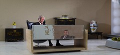 You Only Live Twice - Mr. Osato's office in 1/12th scale. Real actors superimposed. (Greg Bumpo) Tags: jamesbond jamesbondmovies youonlylivetwice scalemodel scalemodels diorama toysanddioramas seanconnery
