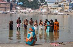 The Ganges (Dick Verton ( more than 13.000.000 visitors )) Tags: asia india varanasi nov2010 ganges ritual bathing