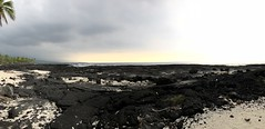 To The Horizon (Melinda * Young) Tags: coast hawaii lava sand beach sun sunset trees palm panorama 2017 travel