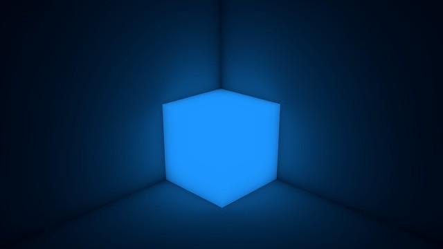 Обои куб, неон, форма, подсветка картинки на рабочий стол, фото скачать бесплатно