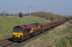 66171 30-03-19 (IanL2) Tags: dbcargo class66 66171 leicestershire railways trains locomotive emd