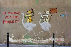 Toc Toc + Matt Thieu_5374 impasse des Primevères Paris 11 (meuh1246) Tags: streetart paris animaux toctoc mattthieu impassedesprimevères paris11 oiseau autruche lion