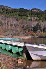 Lake Yunoko | Tochigi, Japan (Ping Timeout) Tags: nikkō 日光市 town city tochigi prefecture japan nikko north west season visit travel autumn fall outdoor 栃木県 unesco world heritage site national park lake yunoko nippon holiday 東京 日本 october 2018 vacation explore boat water reflection reflect blue skies sky hill mountain colour color green nature row paddle tree forest small senjogahara
