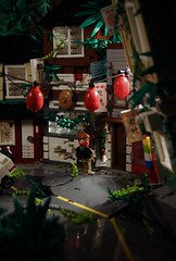 Tokyo 2049 東京 ([E]ddy) Tags: lego postapoc apocalyptic legoapocalyptic scene bricks toy legominifigure legominifig legography minifig minifigure minifiguur tokyo plants road truck brick photography photo moc afol tfol legoscene