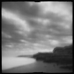 Headland #15 (LowerDarnley) Tags: debonair dianaclone dianacamera plasticcamera toycamera multipleexposures pei princeedwardisland seaview coast ocean headland cliffs atlanticcanada maritimes beach