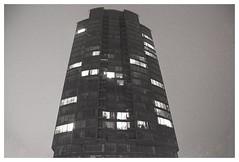 Tetris (haidem3) Tags: building skyscape lights night urban architecture vilnius windows glass blackandwhite bw