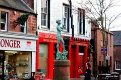 Peter Pan (mootzie) Tags: kirriemuir angus scotland square statue peter pan red bronze