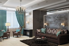 Beautiful guest room , living room design with green curtains and lovely wall sconce lamps #walllamps  #interior123 #interior2you #interior125 #passion4interior #roomforinspo #interior9508 #interiorstyled #interior_delux #shabbyyhomes #interiørmagasinet # (CoolHomeStyling) Tags: instagram ifttt