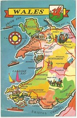 WALES MAP (tico_manudo) Tags: wales gales reinounido unitedkingdom europa postcards
