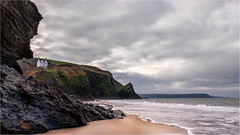 Llangrannog & Carreg Bica (Mark Fender Photography) Tags: green beach sea seascape sand surf ocean rocks ceredigion llangrannog 200119