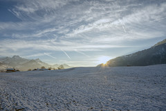 Snow-covered Meadows (Bephep2010) Tags: 2018 7markiii abend aeschi aeschibeispiez alpen alpha bern herbst ilce7m3 sel1635z schnee sonne sonnenstrahlen sony sunbeam wiese alps autumn evening fall snow snowcovered sun verschneit ⍺7iii cantonofbern switzerland ch