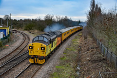 37099 + 37521 - March West Junction - 12/01/19. (TRphotography04) Tags: colas rail freight 37099 merl evans 1947 2016 37521 rumble past march west junction with 1q86 1023 down rs derby rtcnetwork test train via peterborough lincoln doncaster