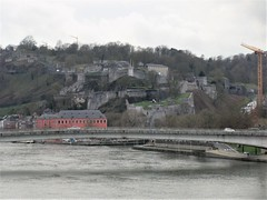Pont des Ardennes and view to Citadelle from the railway, Namur, Belgium (Paul McClure DC) Tags: belgium belgique wallonia wallonie ardennes feb2018 namur namen river meuse maas castle scenery architecture historic
