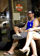 DSCN2742 (danimaniacs) Tags: hot sexy man guy tanktop hat cap shorts tattoo beard scruff