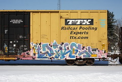 Dike (quiet-silence) Tags: graffiti graff freight fr8 train railroad railcar art dike ttx tbox boxcar tbox660169