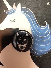 Purr Evil cat pin #spencers #cute #goth #cat #purrevil #pin #aw (direngrey037) Tags: spencers cute goth cat purrevil pin aw