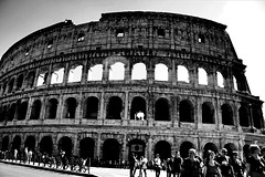 Colosseum | Rome | Italy (maryduniants) Tags: italia roma blackandwhite architecture europe ancient italy rome colosseum