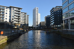 New Leeds waterfront (Tony Worrall) Tags: leeds yorkshire city river water waterway wet architecture building built design modern apartments blocks reflection wetreflection north update place location uk england visit area attraction open stream tour country item greatbritain britain english british gb capture buy stock sell sale outside outdoors caught photo shoot shot picture captured ilobsterit instragram architecturephotography