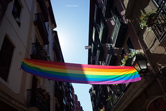 Friendly Flag at Bilbao, Friendly City (Iker Merodio | Photography) Tags: friendly gay bilbao flag bizkaia biscay basque country euskadi ricoh gr ii 2 rainbow