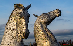 Kelpies 1 (red.richard) Tags: kelpies horses sky sculpture helix scotland water spirts nikon d3300