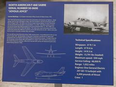 North American F-86E Sabre Sign (Serendigity) Tags: arizona pimaairspacemuseum tucson usa unitedstates aircraft aviation hangar indoors museum unitedstatesofamerica
