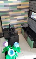 Shallow-Water House MOC. Kitchen stove. (betweenbrickwalls) Tags: lego afol moc kitchendesign interiordesign stove