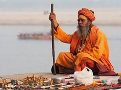 Varanasi - Sadhu (sharko333) Tags: travel reise voyage asia asien asie india indien uttarpradesh वाराणसी varanasi benares kashi hinduisme portrait people man sadhu olympus em1