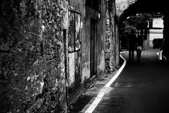 Line Walker (Leica M6) (stefankamert) Tags: line walker people wall textures tones contrasts blackandwhite blackwhite noiretblanc noir film analog analogue leica m6 leicam6 summicron dr dualrange kodak trix stefankamert bellagio italy street