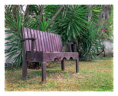 Bajan Bench (Timothy Valentine) Tags: 2018 0418 bench vacation ourhotel monday palm caribbean sugarbay bridgetown christchurch barbados bb
