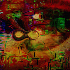 Thank You Falettinme Be Mice Elf Agin... (Mark Noack) Tags: light color photoshop layers layering surreal expressionism abstract futurist