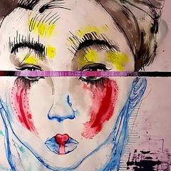 Ayaka (franck.sastre) Tags: metamorfosis painting picture colors aguadas art eyes lips