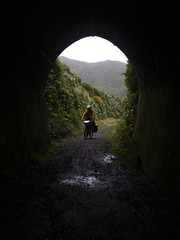 Remutaka Tunnel (Wozza_NZ) Tags: cycletouring remutakaincline railtunnel tunnel wellington wairarapa upperhutt cycle bike tour touuring scenicride historic historicrailtunnel dark