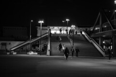 JR Osakajokoen Station (Hideki-I) Tags: blackandwhite bw 白黒 黑白 大阪城公園 駅 鉄道 日本 大阪 nikon d850 2470 osaka japan